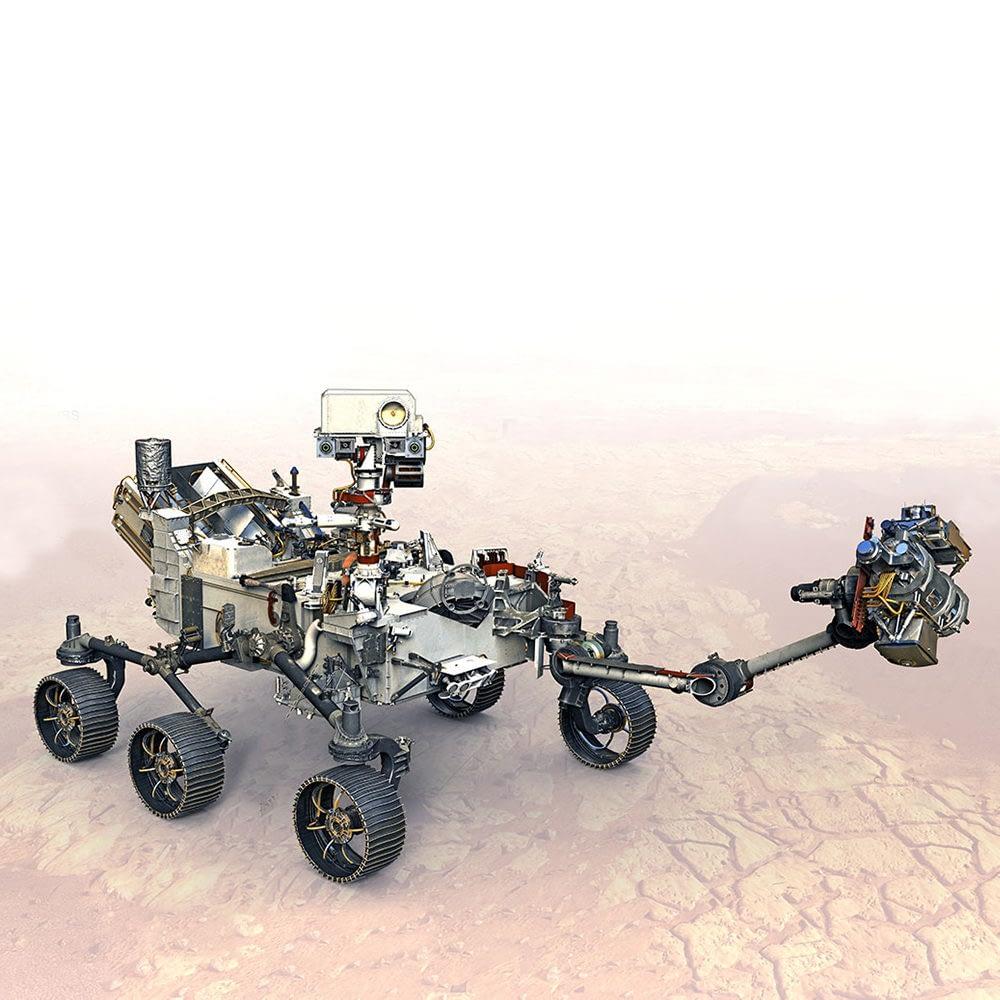 "Rover ""Perseverance"" mit SHERLOC-Instrument"